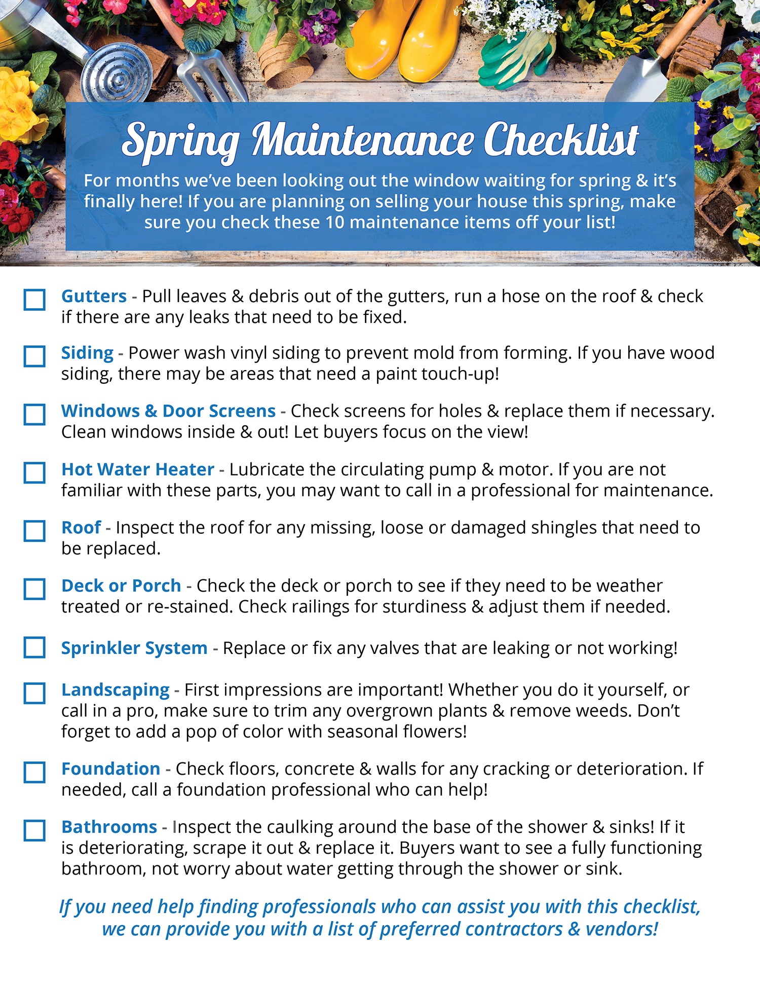 Your Home's Spring Maintenance Checklist [INFOGRAPHIC] | Simplifying The Market
